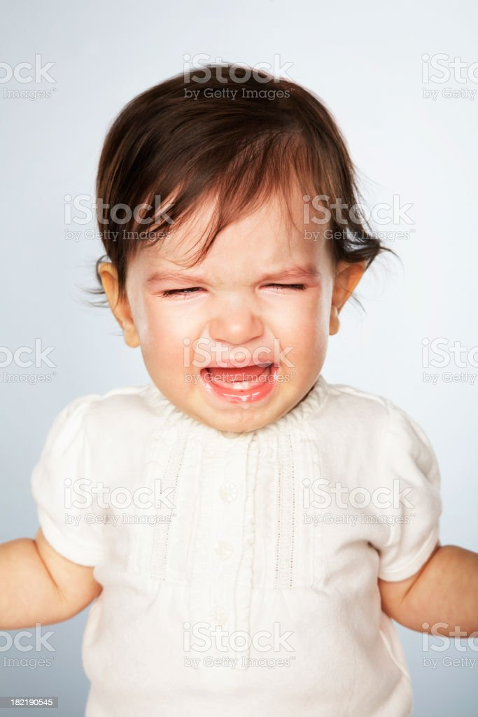 Portrait-Crying Baby royalty-free stock photo