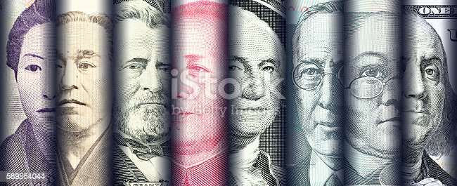 istock Portraits / images / faces of famous leader on banknotes, 589554044