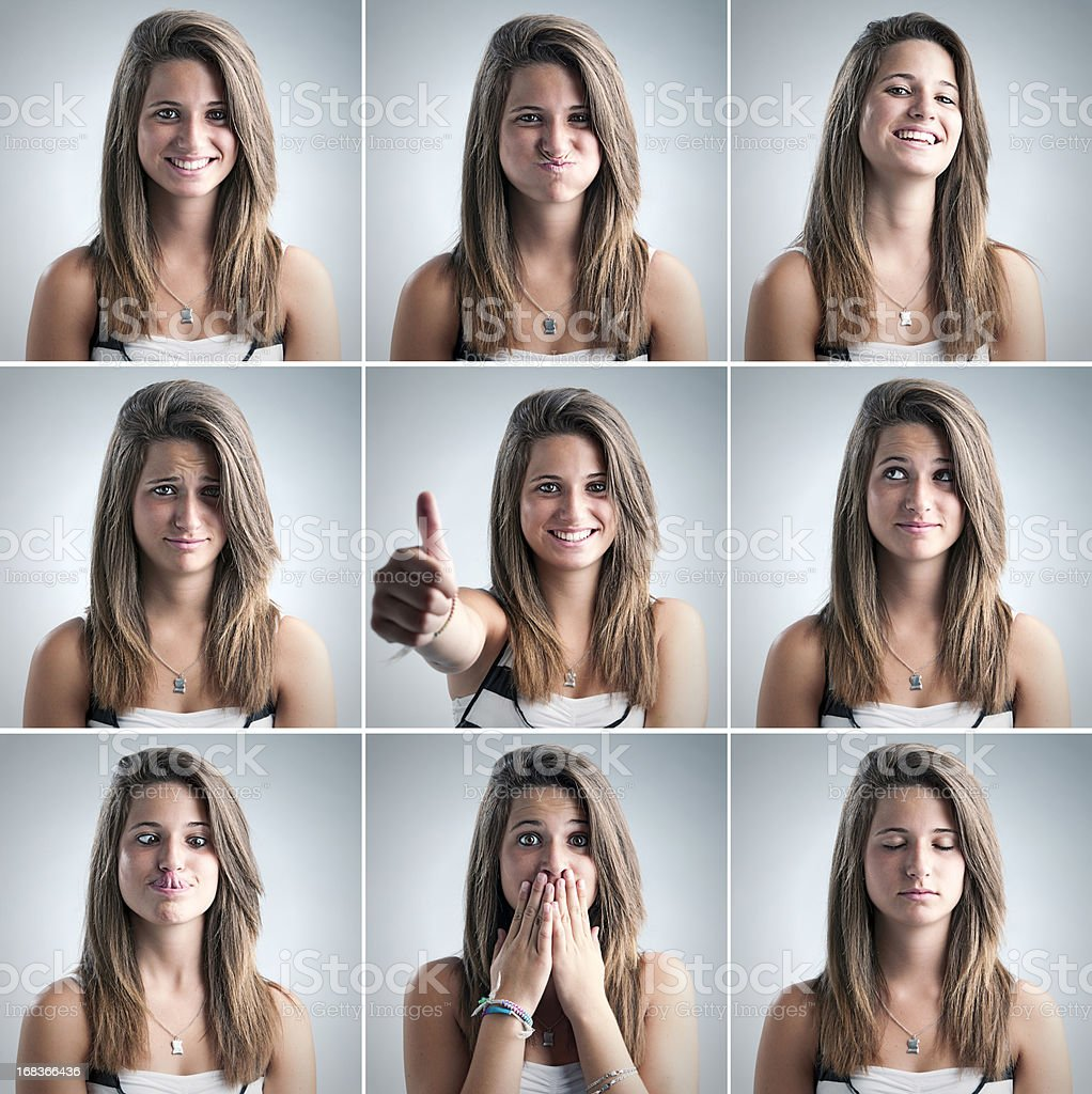 portraits of a beautiful teen royalty-free stock photo