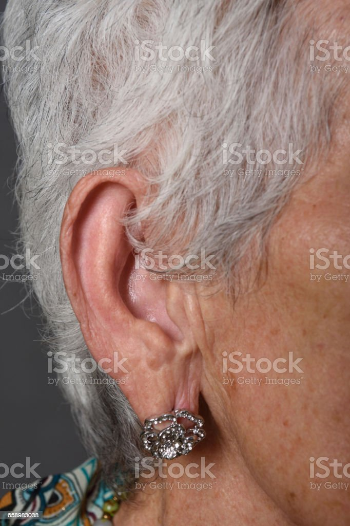 portraits of a senior woman stock photo