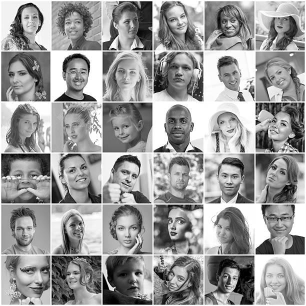 Ritratti di persone diverse - foto stock