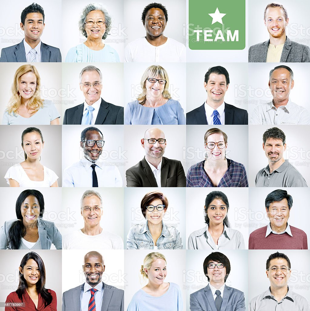 Portraits of Multiethnic Diverse Business People stock photo
