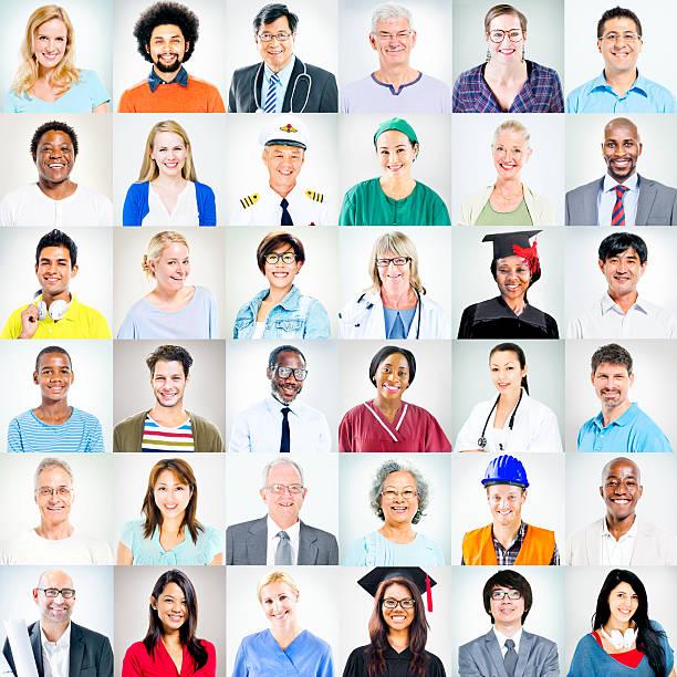 Portraits de diversité ethnique pratiquant activités personnes - Photo