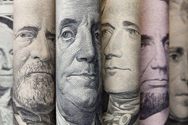 Portraits of U.S. presidents on dollar bills Portraits of U.S. presidents on dollar bills. president stock pictures, royalty-free photos & images