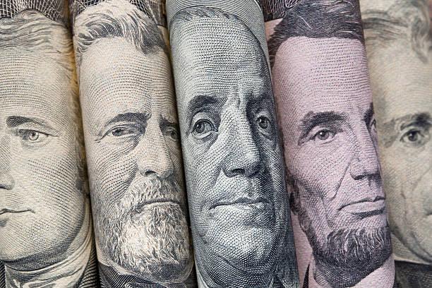 портреты президентов сша в долларах на счета - президент стоковые фото и изображения