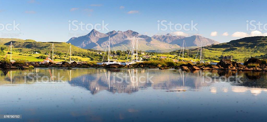 Portree Bay stock photo