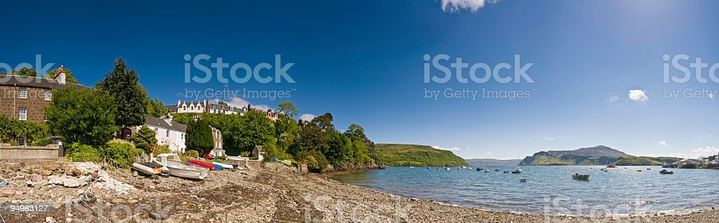 Portree panorama Skye Scotland royalty-free stock photo
