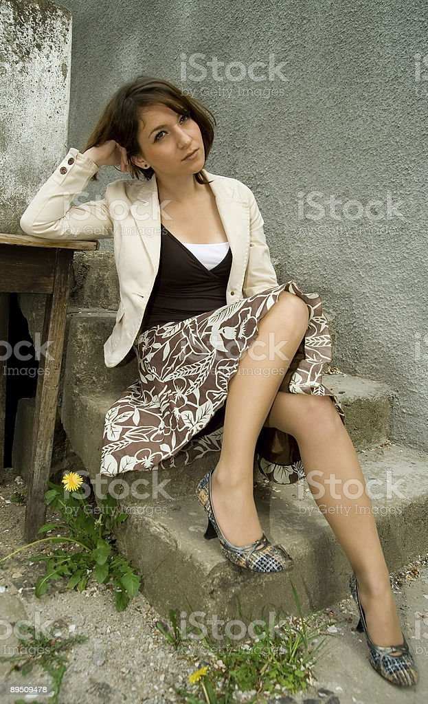 Portret of sexy and provocative female royalty-free stock photo