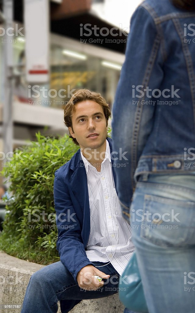 Portret of young man flirting royalty-free stock photo