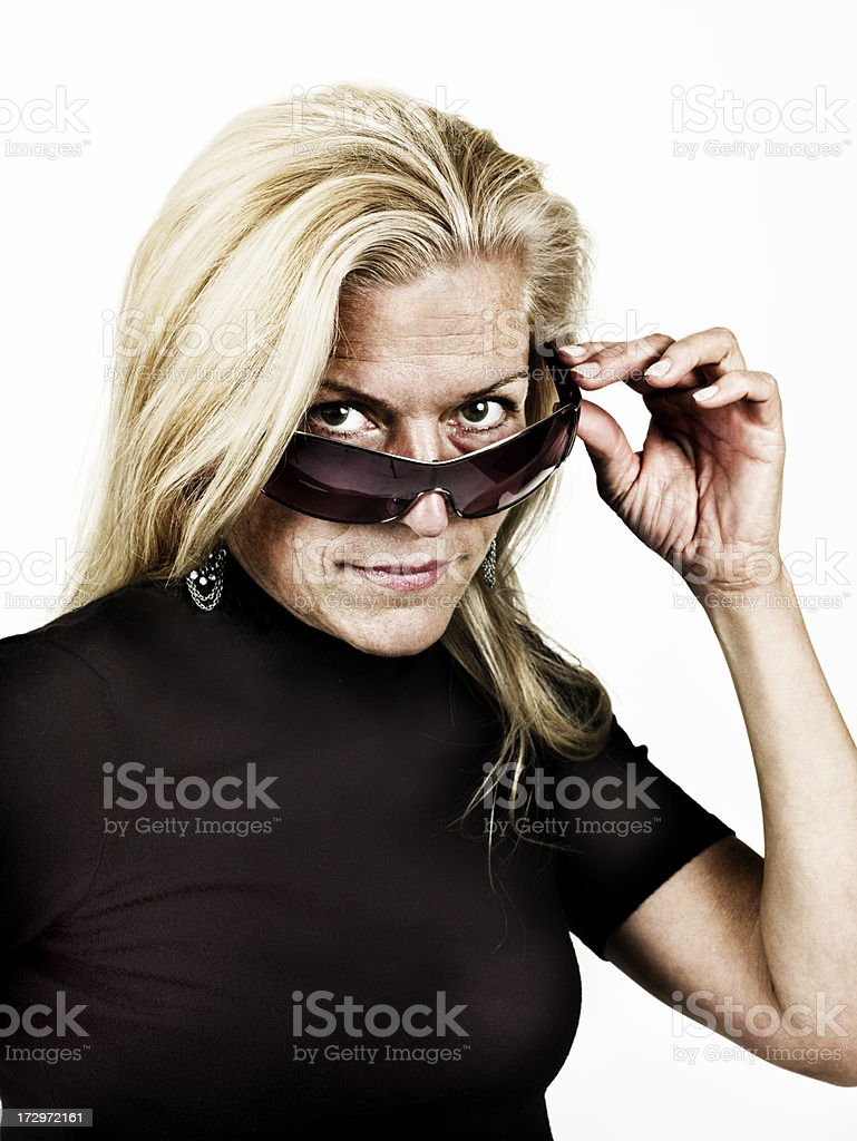 Portriat of an attractive woman stock photo