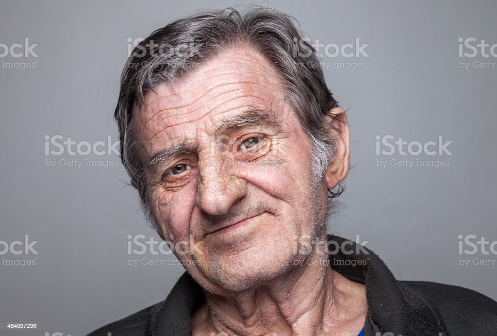Portriat of an elderly man stock photo