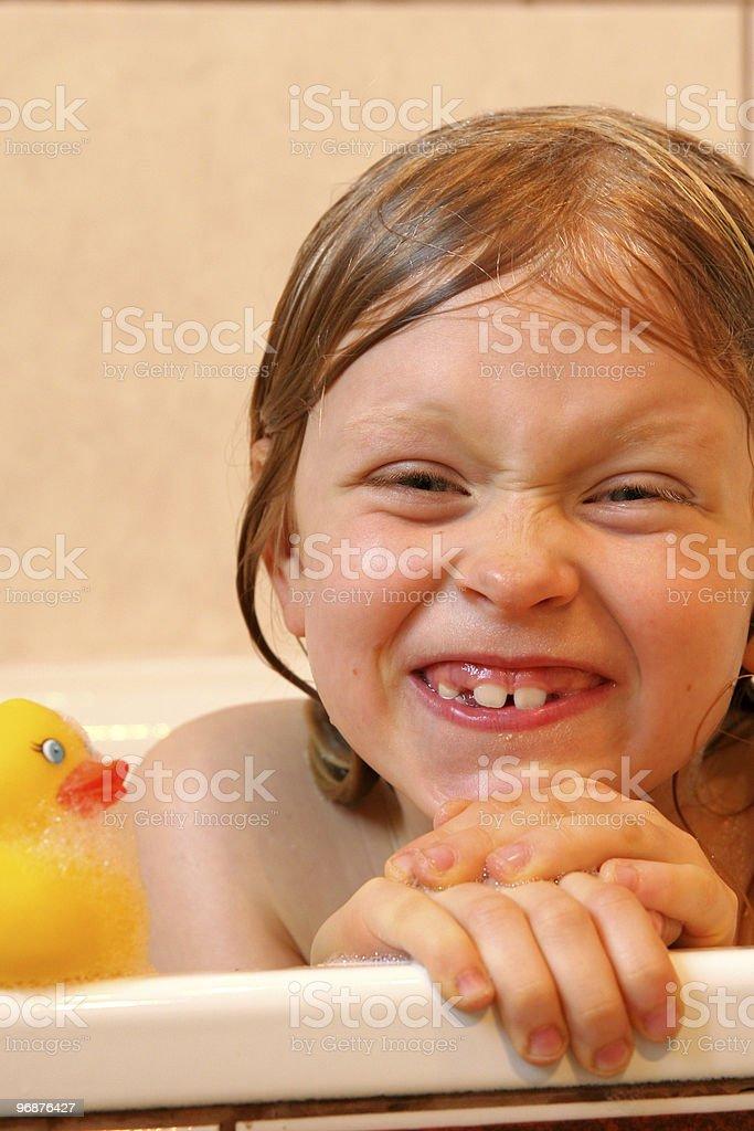 Portriat mit gelben duch Lizenzfreies stock-foto