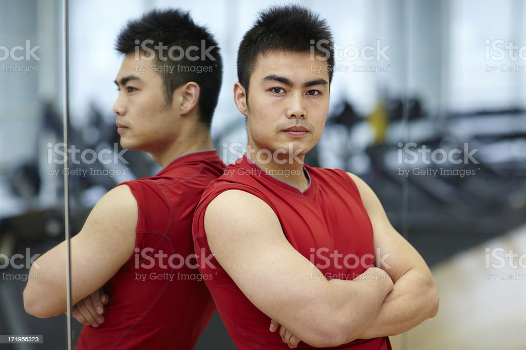 portrit of one fitness trainer royalty-free stock photo