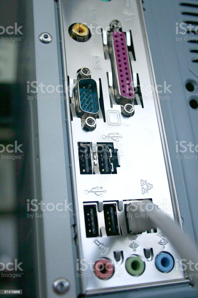 I/O Ports stock photo
