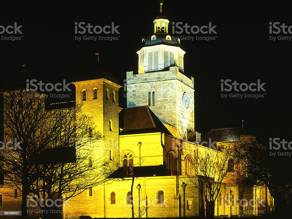 Portsmouth Cathedral at Night. Hampshire. England royalty-free stock photo