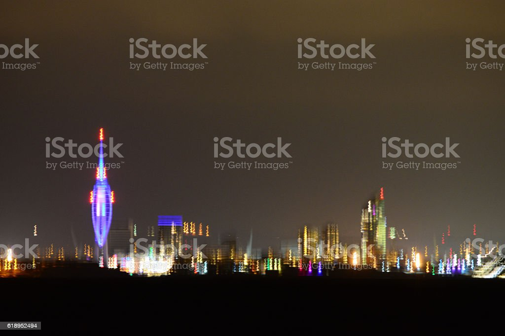 Portsmouth City Skyline - Camera Shake Effect stock photo