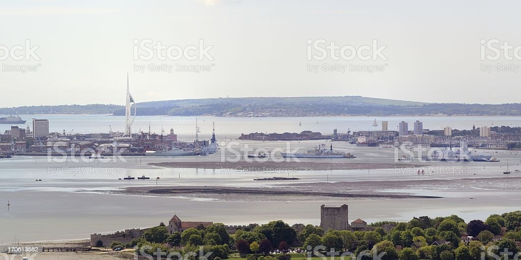 Portsmouth from Portsdown Hill royalty-free stock photo