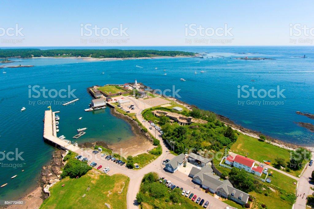 Portsmouth Harbor Lighthouse, NH, USA stock photo