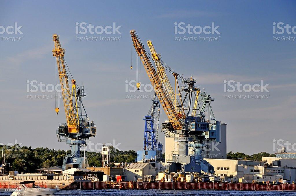 Portsmouth Naval Shipyard stock photo