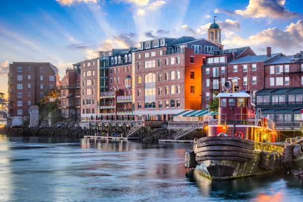 portsmouth (new hampshire) - new hampshire stockfoto's en -beelden