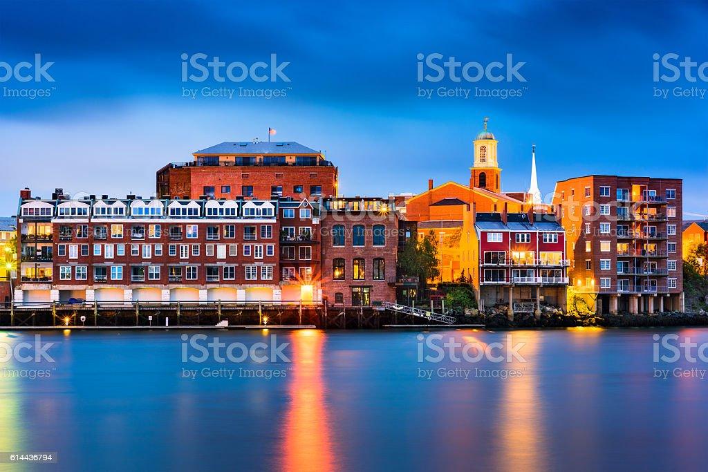 Portsmouth, New Hampshire Skyline stock photo