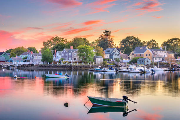 portsmouth, new hampshire, verenigde staten - new hampshire stockfoto's en -beelden