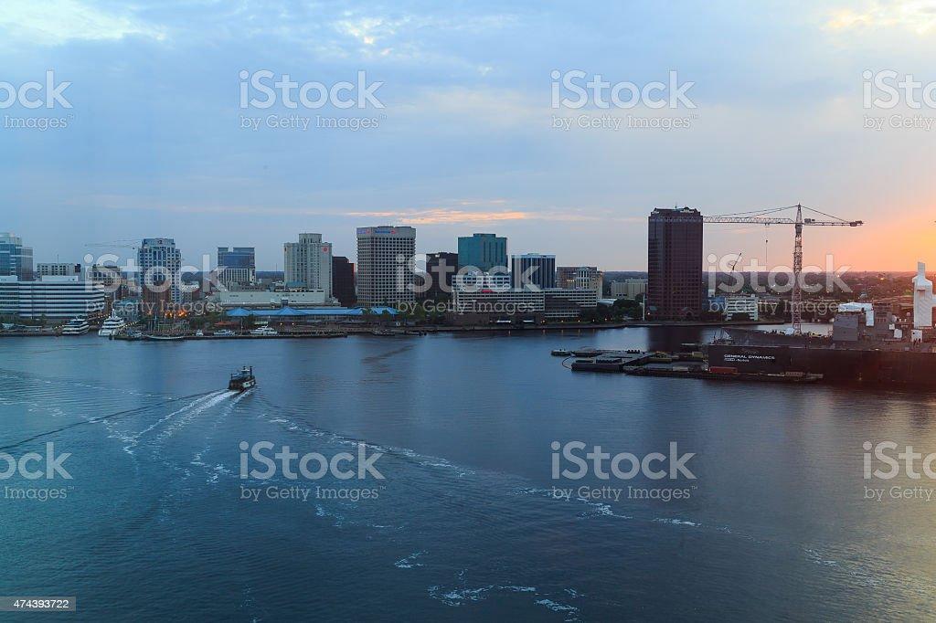 Portsmouth Norfolk Virginia Harbor stock photo