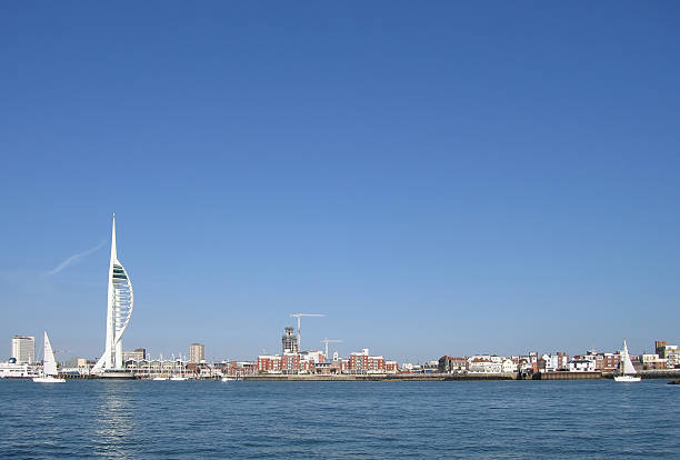 Portsmouth skyline  naval base stock pictures, royalty-free photos & images