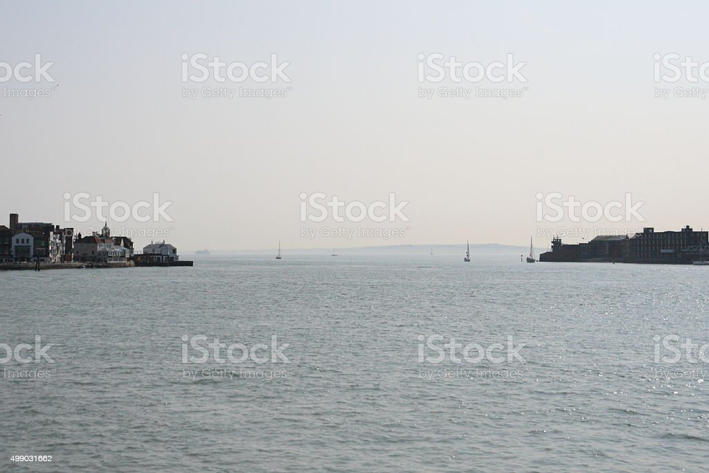 Portsmpouth Harbour Mouth stock photo