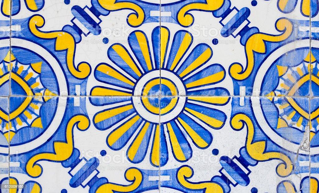 portugal azulejos tiles closeup – Foto