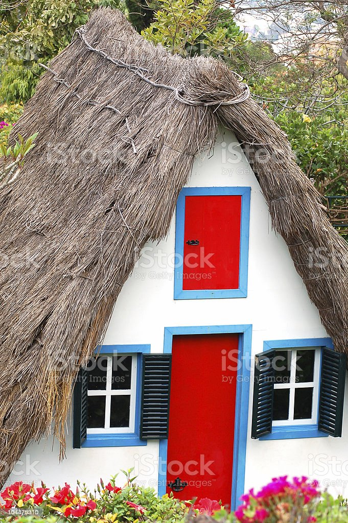 portugal cottage stock photo
