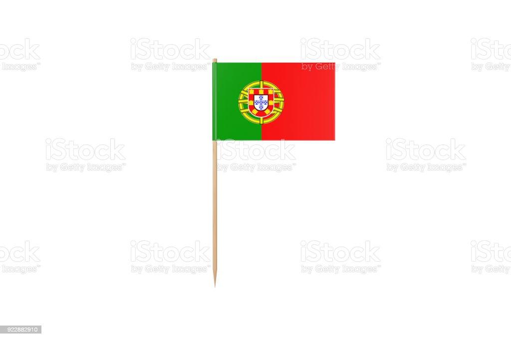 Portugal Flag on a Toothpick. Isolated On White - fotografia de stock