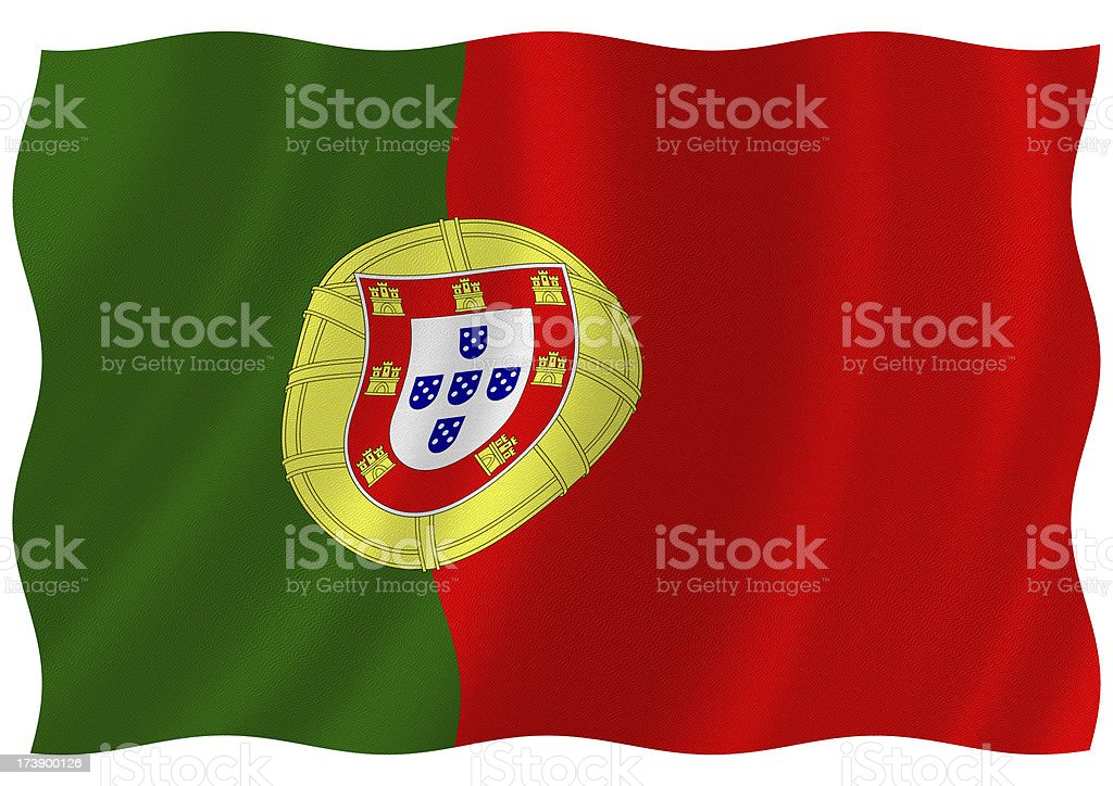 portugal flag royalty-free stock photo