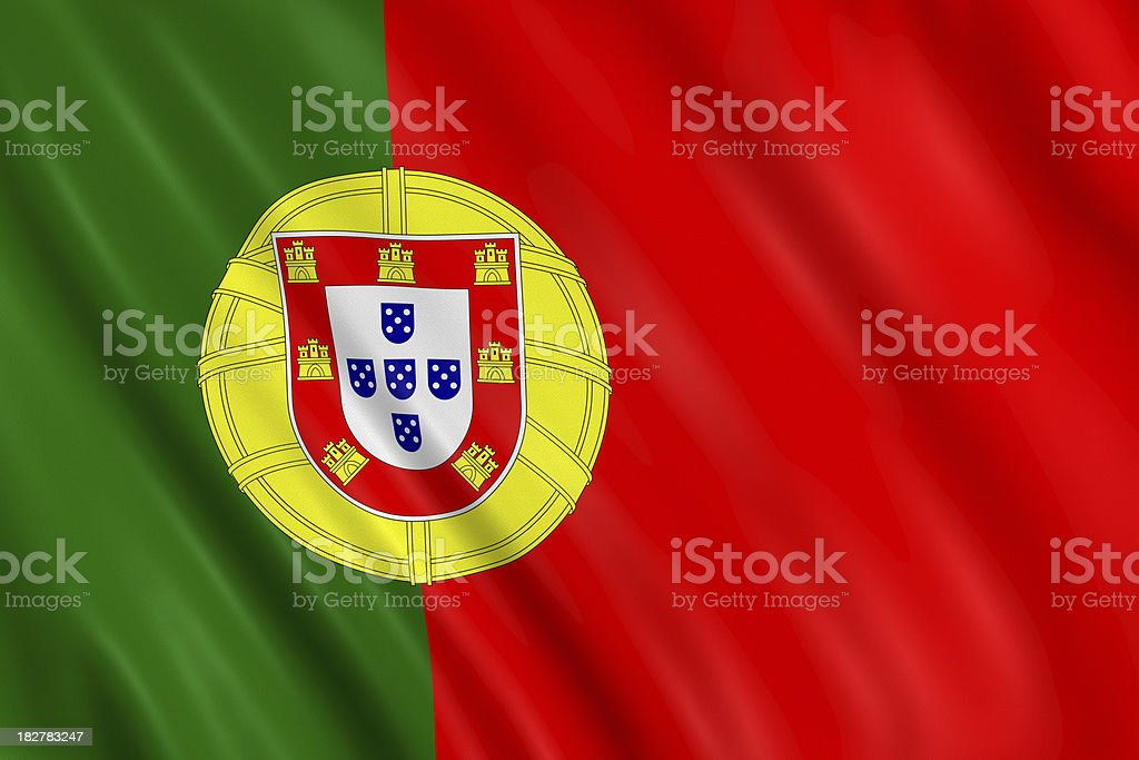 portugal flag stock photo