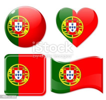 istock Portugal Flags & Icon Set 453107333