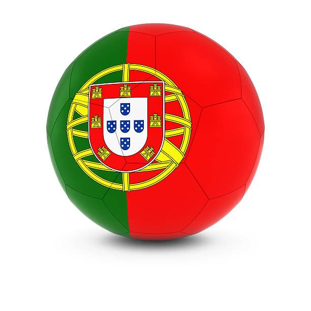 Cтоковое фото Португалия футбольные-португальский Флаг на футбольном мяче