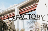 Portugal, Lisbon 29 april 2018: LX Factory or LXF - public platform of creative design and art in Lisbon. Urbanistic project for the modern art and creativity. One of the attractions of the city