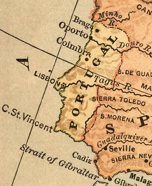 portugal mapa - portugal map imagens e fotografias de stock