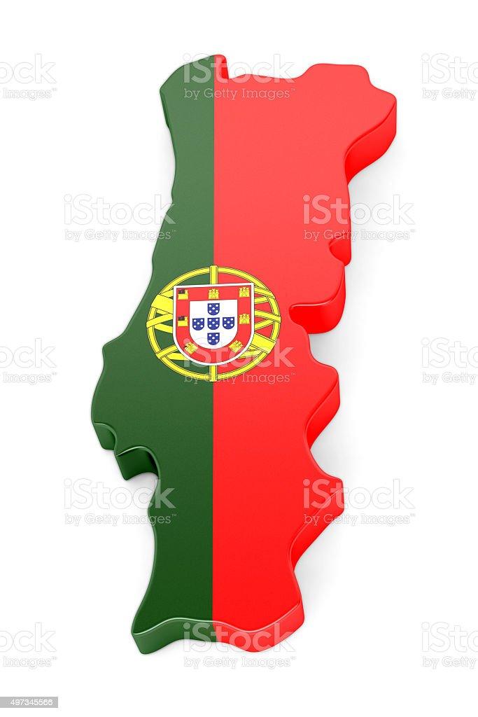 Portugal mapa - fotografia de stock