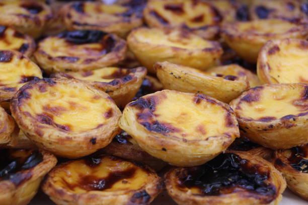 Portugal - pasteis de NATA  ( patisserie à la crème ) stock photo