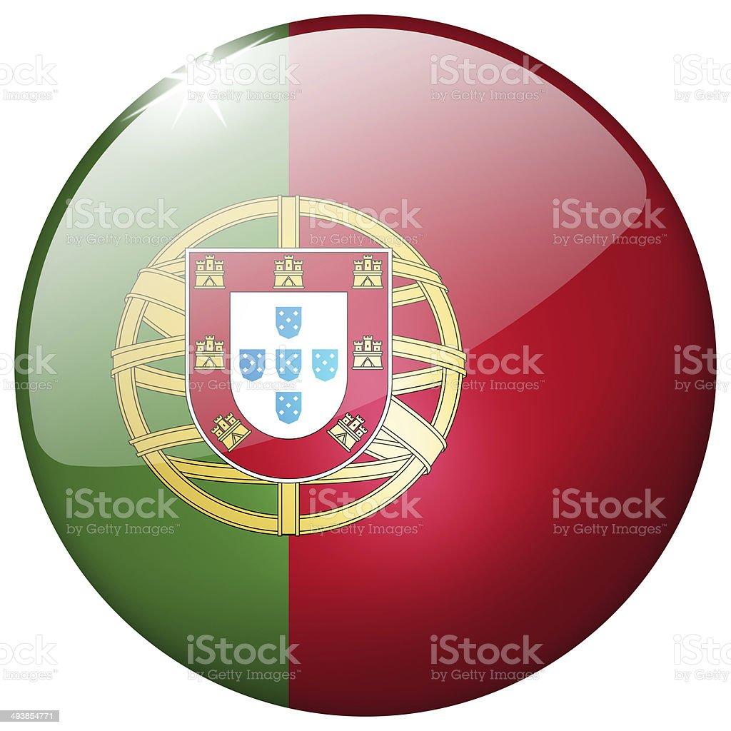 Portugal Round Glass Button stock photo
