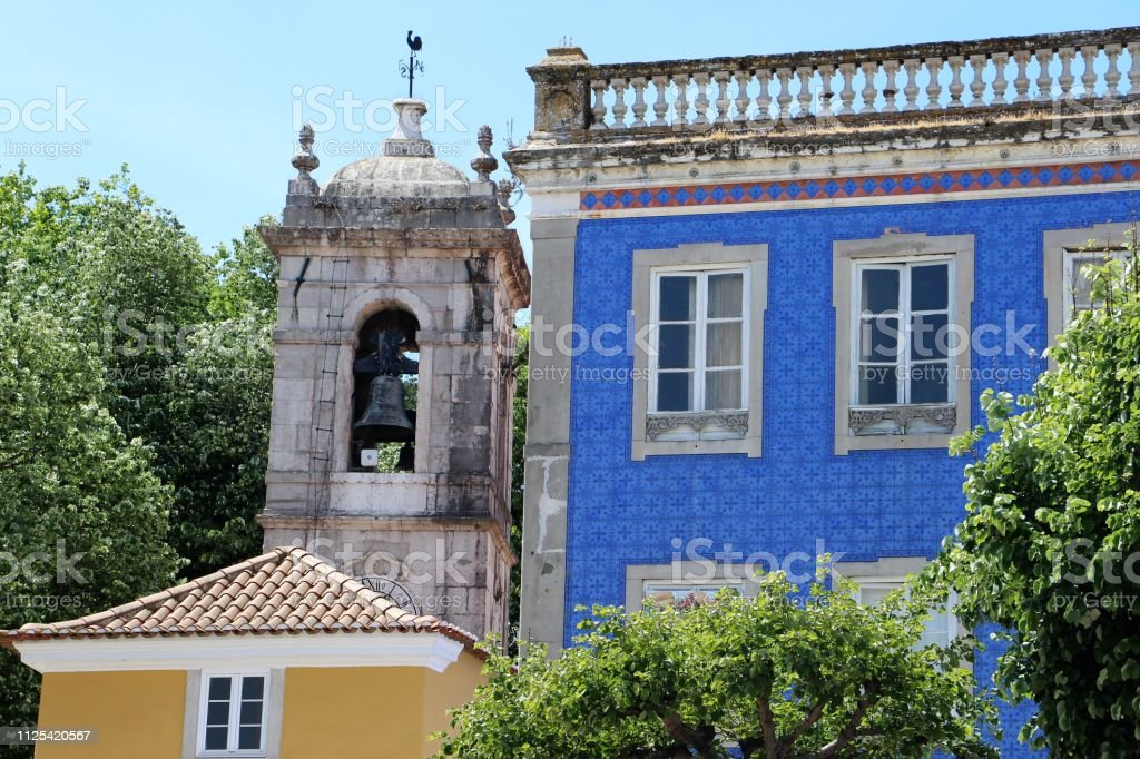 Portugal - sintra - buildings in the town stock photo
