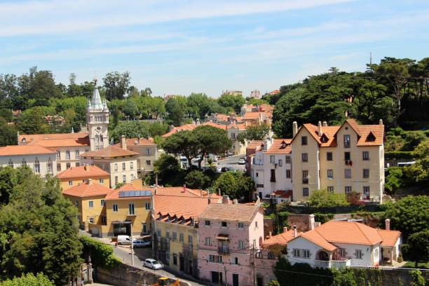 Portugal - sintra - centre ville stock photo