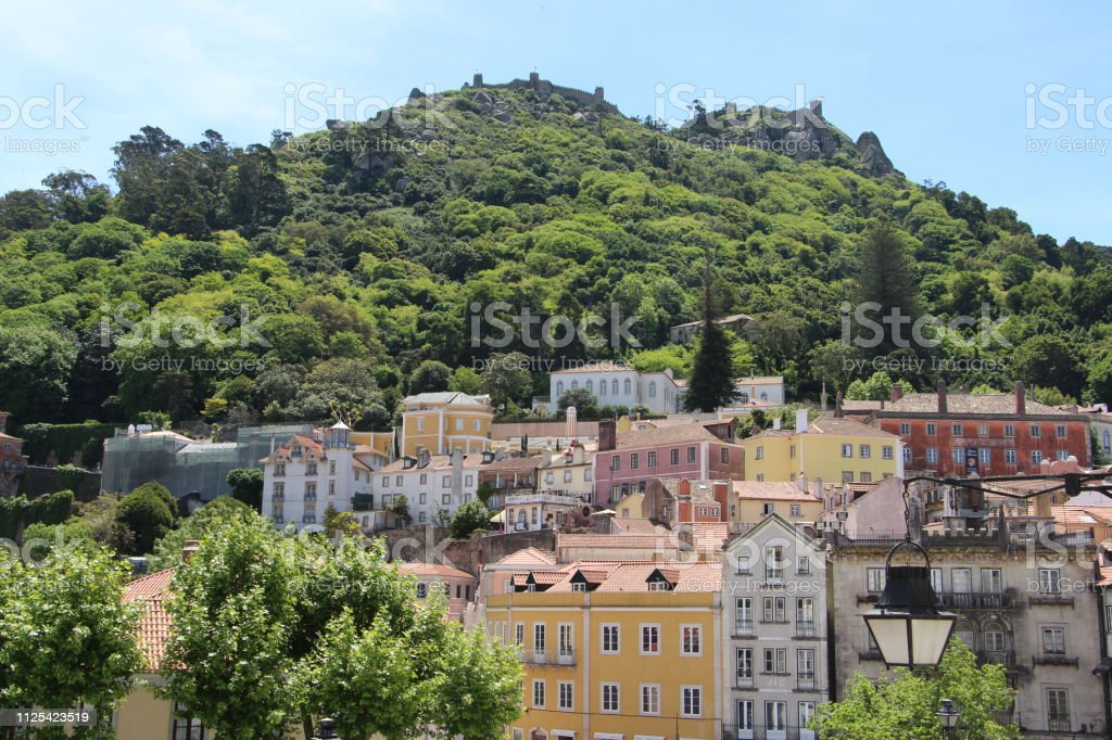 Portugal - sintra: old town stock photo