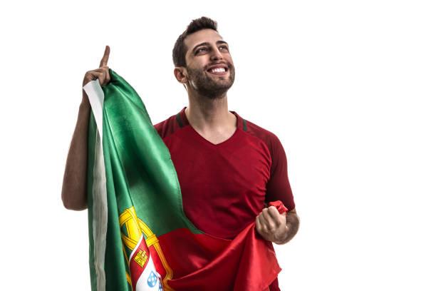 portugal fotboll fläkt firar - football portugal flag bildbanksfoton och bilder