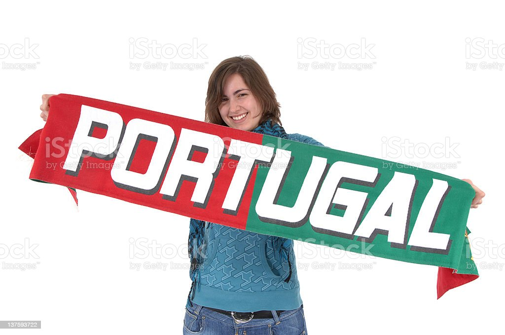 Portugal Soccer fan royalty-free stock photo