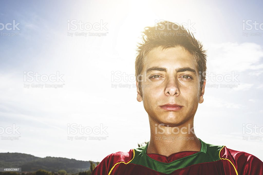 portugal Soccer player portrait royalty-free stock photo