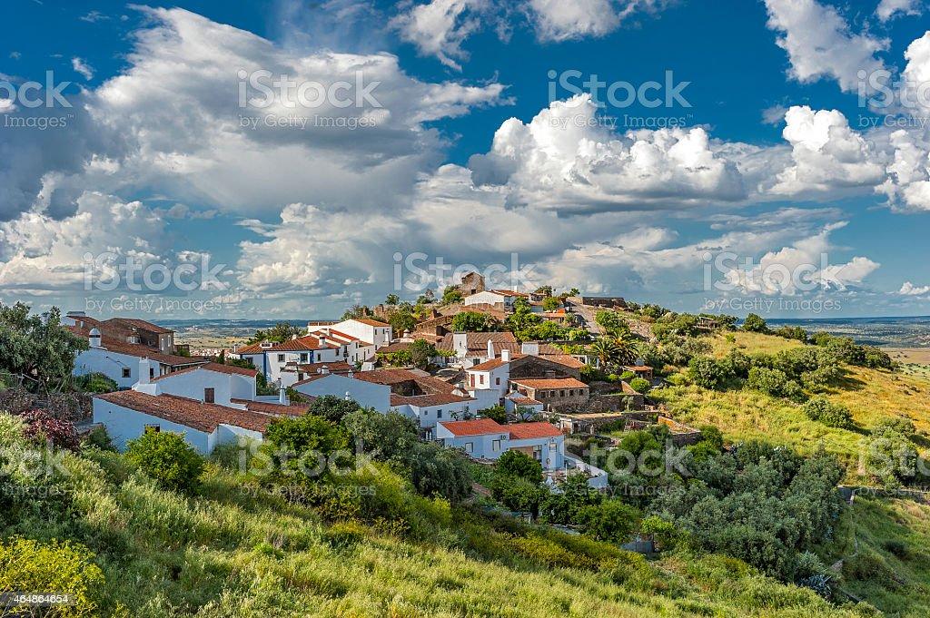 Portugal, das Viertel Evora. Die grüne Dorf Monsaraz – Foto