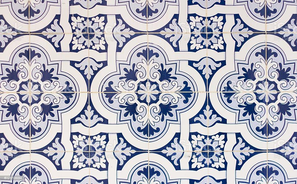 portugal tiles closeup