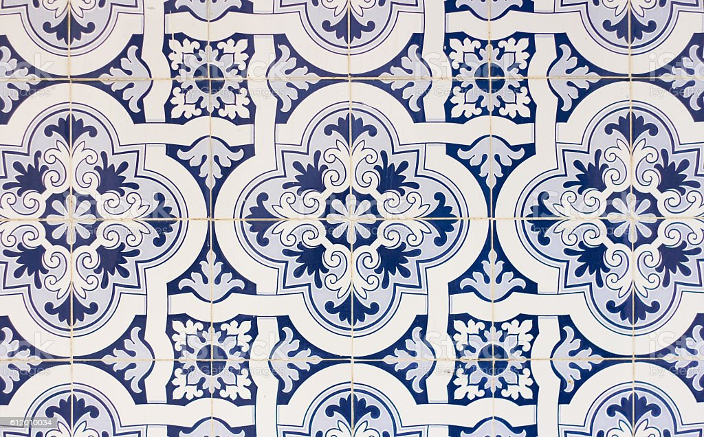 portugal tiles closeup - foto de acervo
